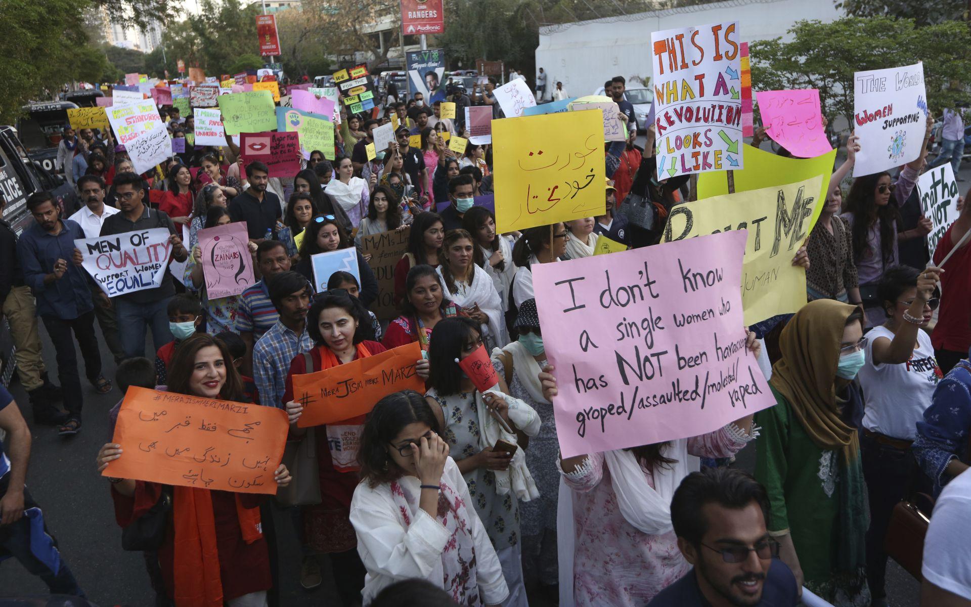 Шествие на пакистански активистки в Карачи