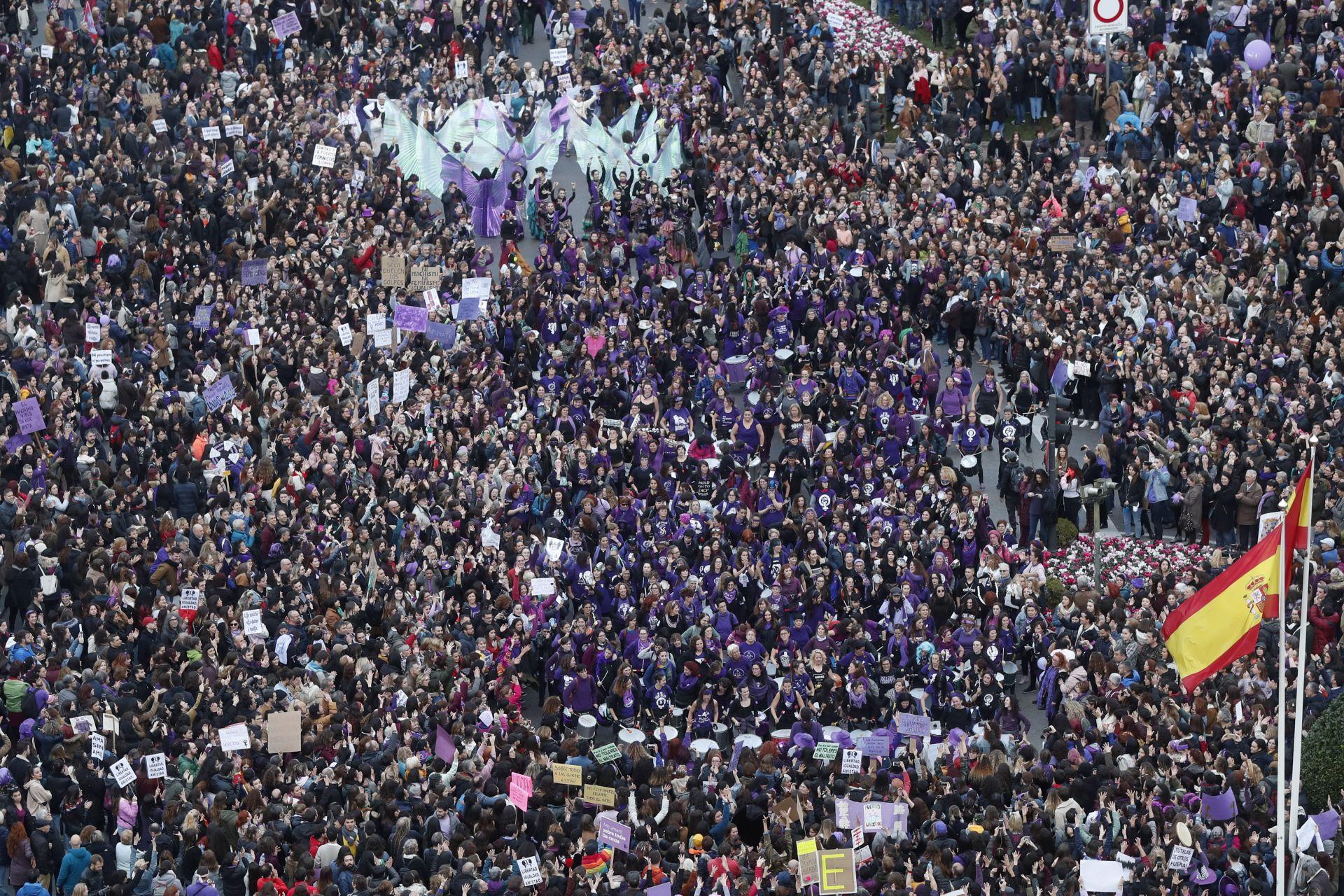 Шествие по повод международния ден на жената в Мадрид