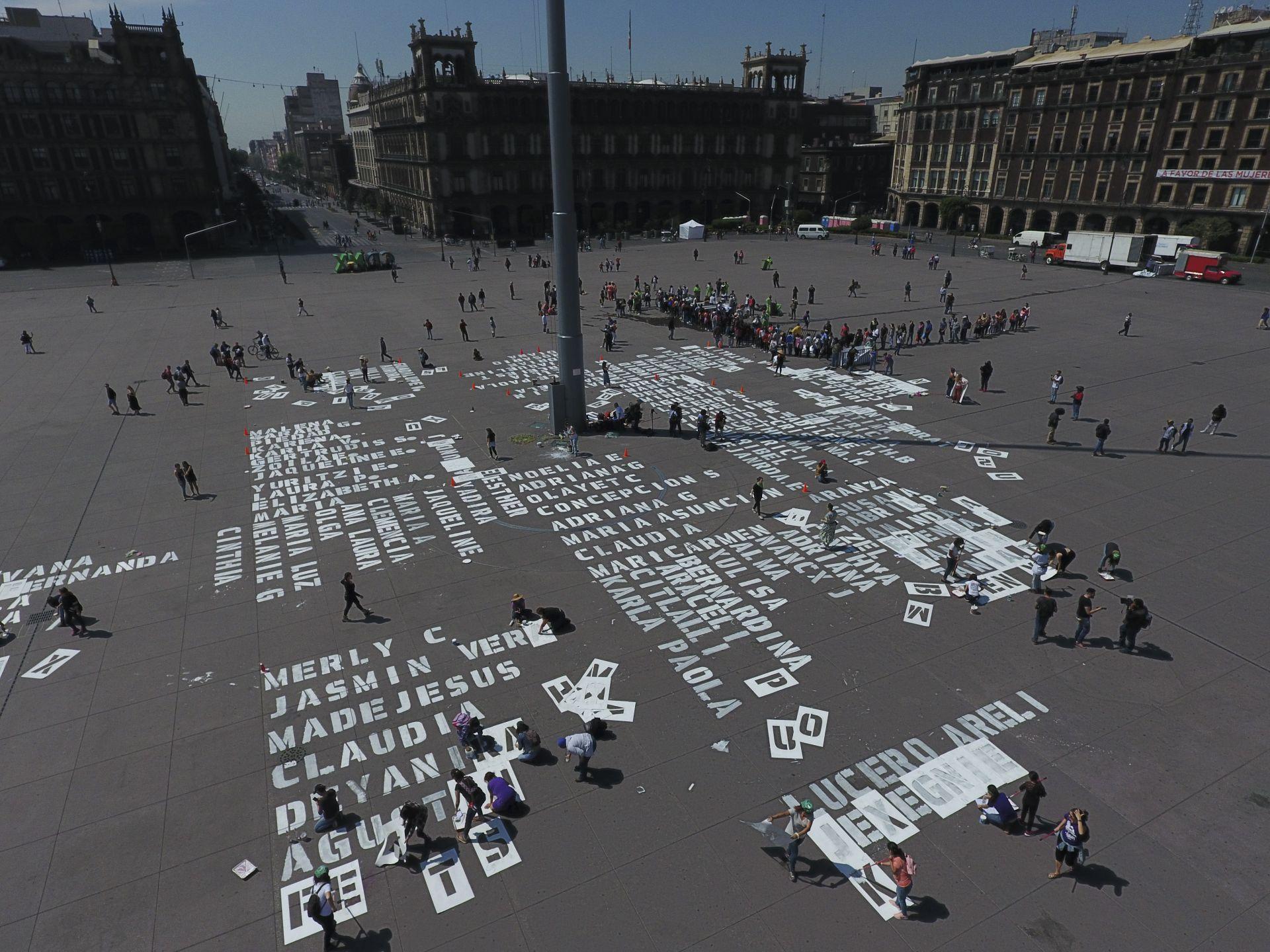 Изписани са имената на жените - жертви на населие в Мексико