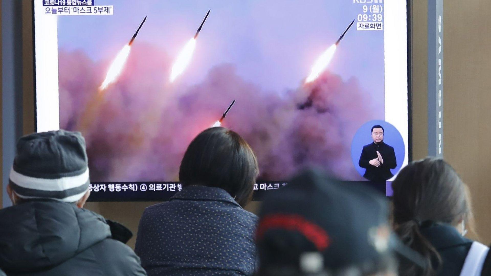 Северна Корея изстреля три снаряда от източния си бряг
