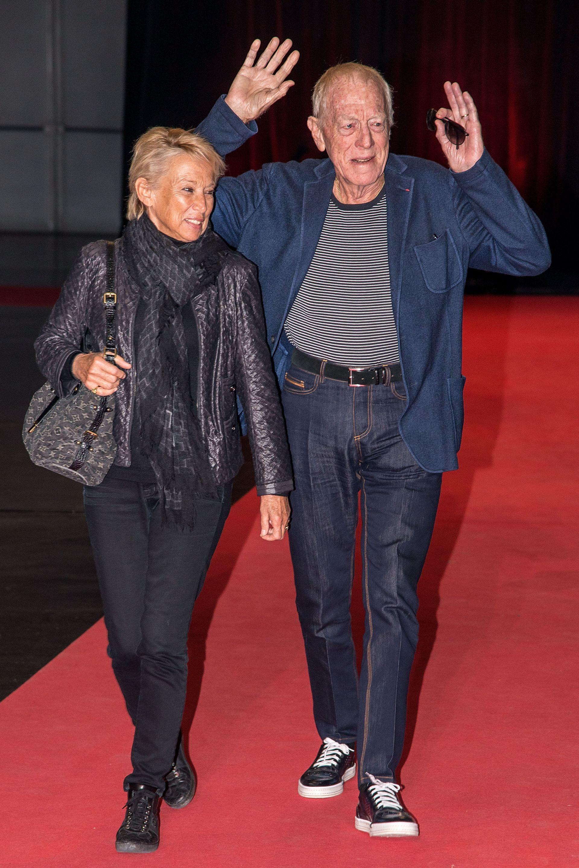 """С втората си съпруга на филмовия фестивал """"Люмиер"""" през 2015 г."""