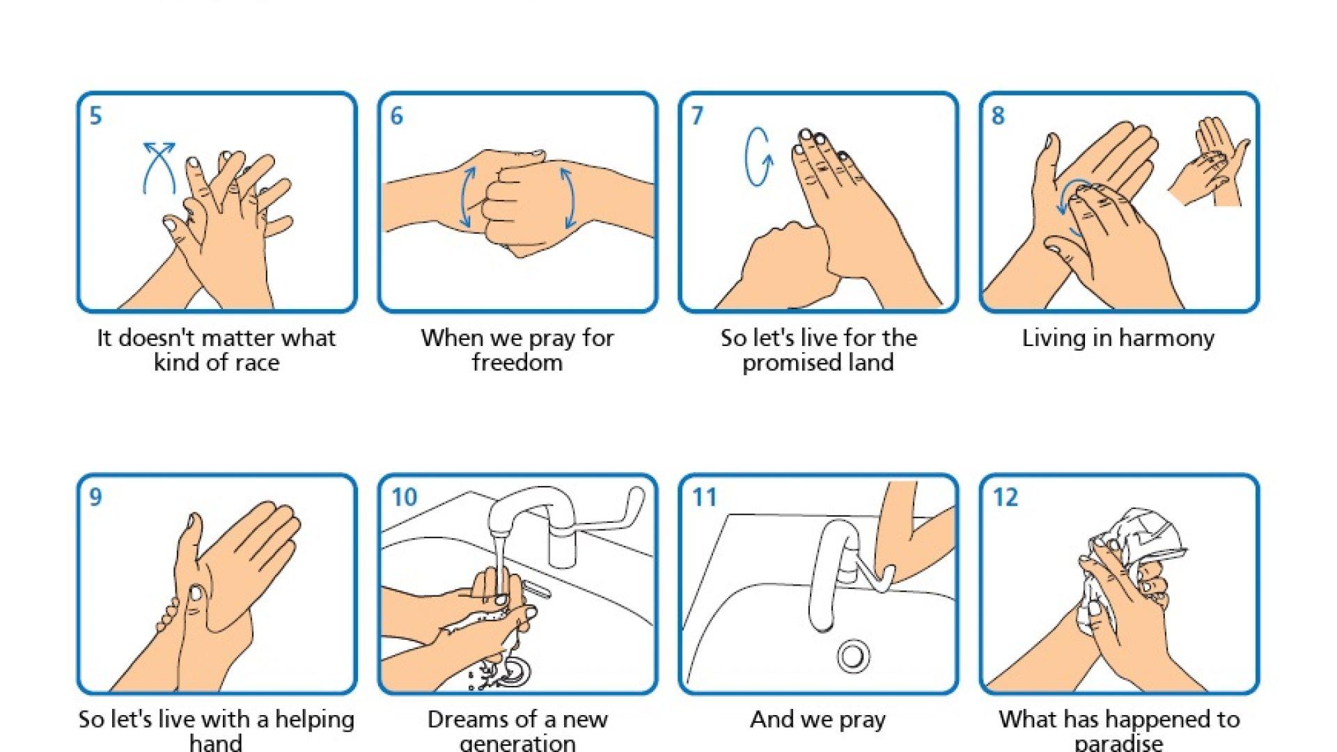 Сайт помага да мием ръцете си качествено, докато пеем любимата си песен
