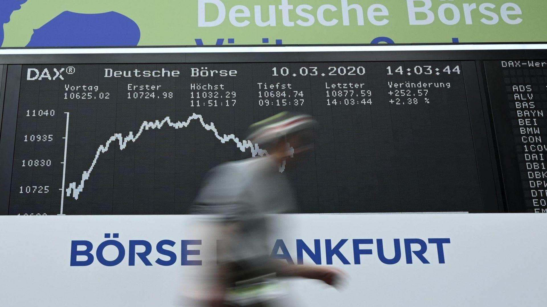 Европейските борси приветстваха привидно забавилия се темп на заразата