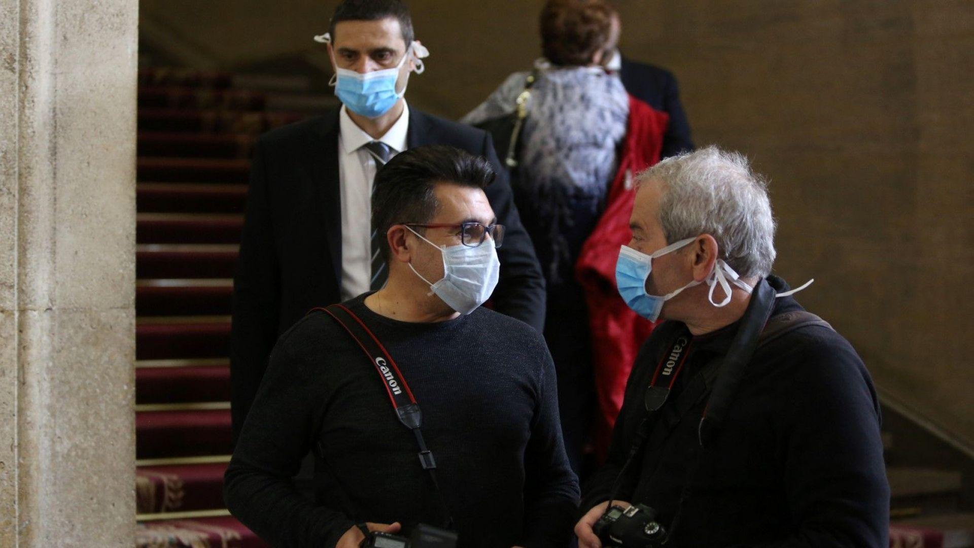 Изолираха депутатите от журналистите в НС заради коронавируса