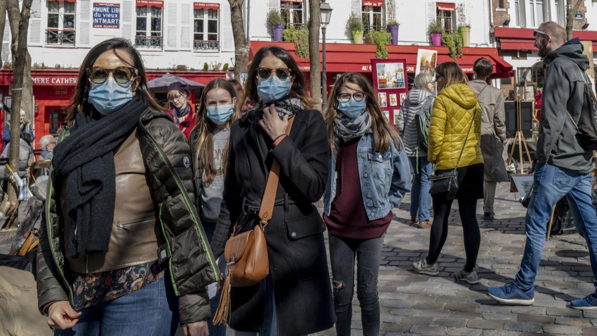 Франция удължава строгата карантина, само с декларация навън