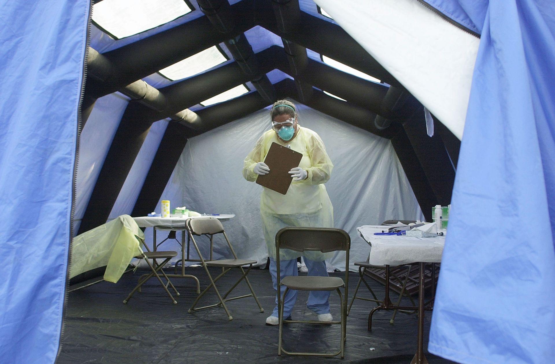 Скрининг за SARS на 13 юни 2003 г. в болница в Северна Каролина