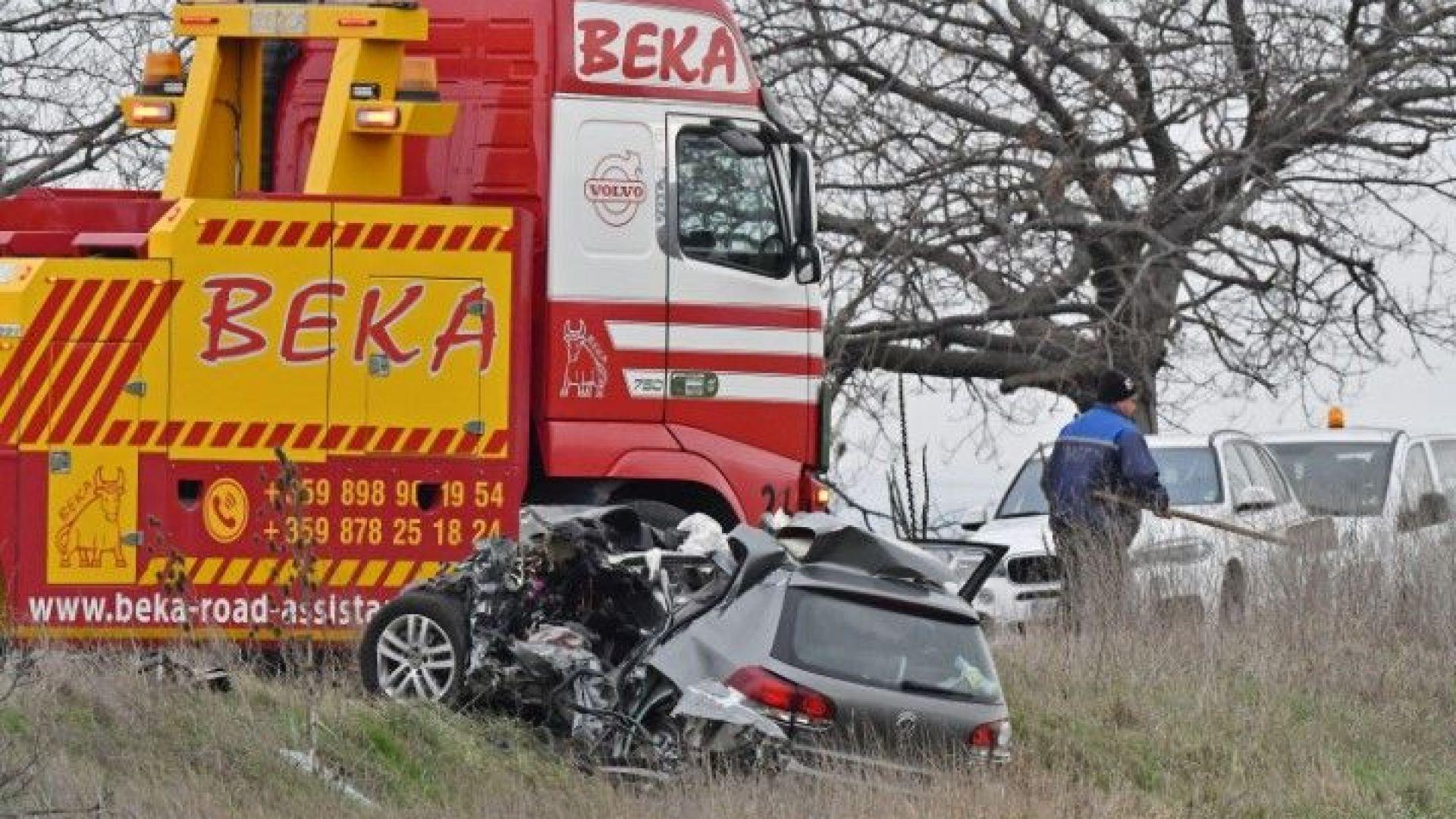 При челен сблъсък между камион и автомобил, един е загинал
