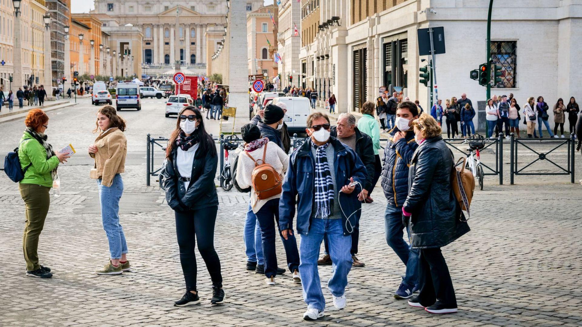 До 1000 евро глоба в Италия, ако си без маска навън, Чехия с най-голям ръст в Европа