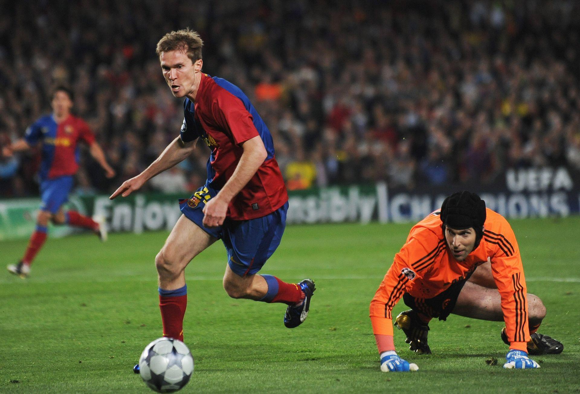 Александър Хлеб с екипа на Барселона