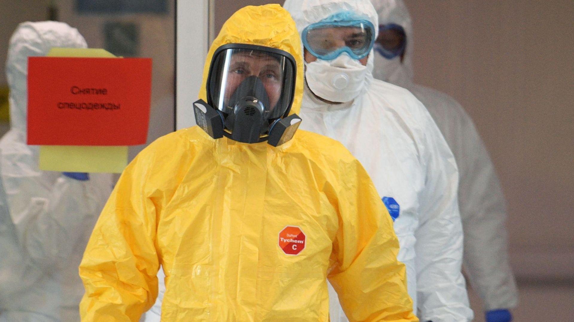 Владимир Путин посети болница за пациенти с коронавирус (снимки)