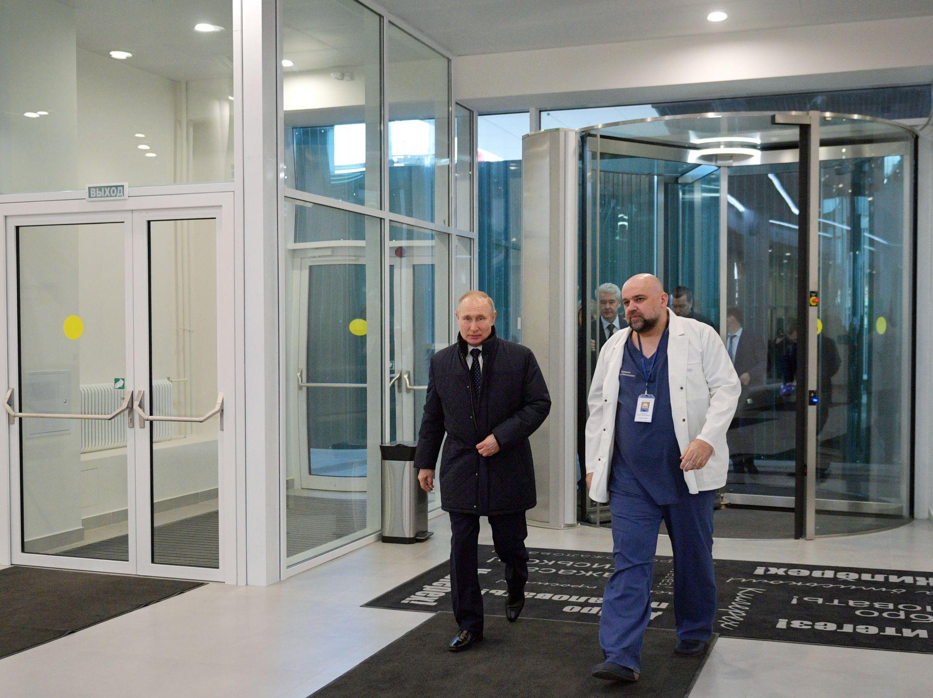 По-рано президентът посети болница в Москва