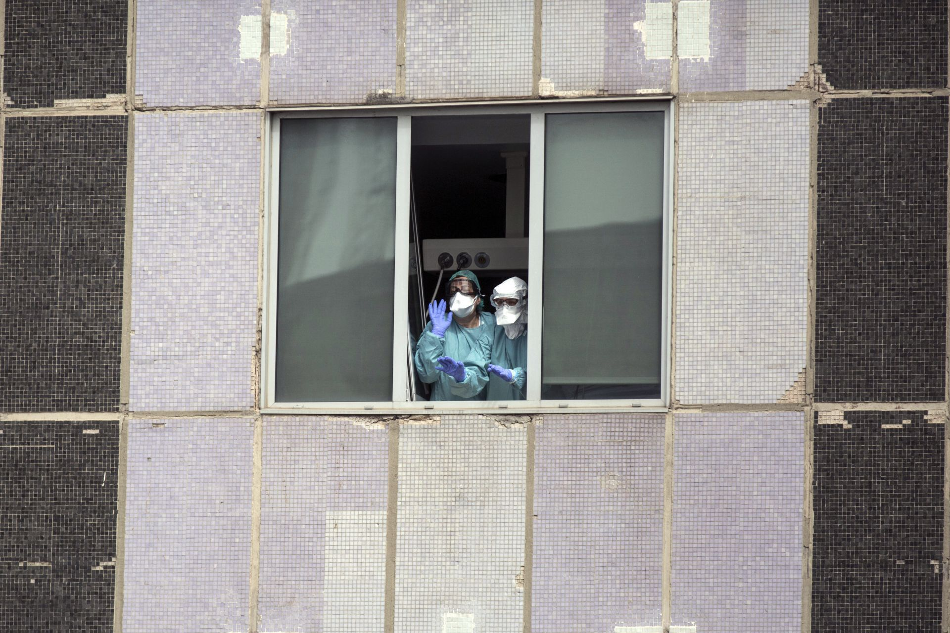 Медици в болница в Мадрид
