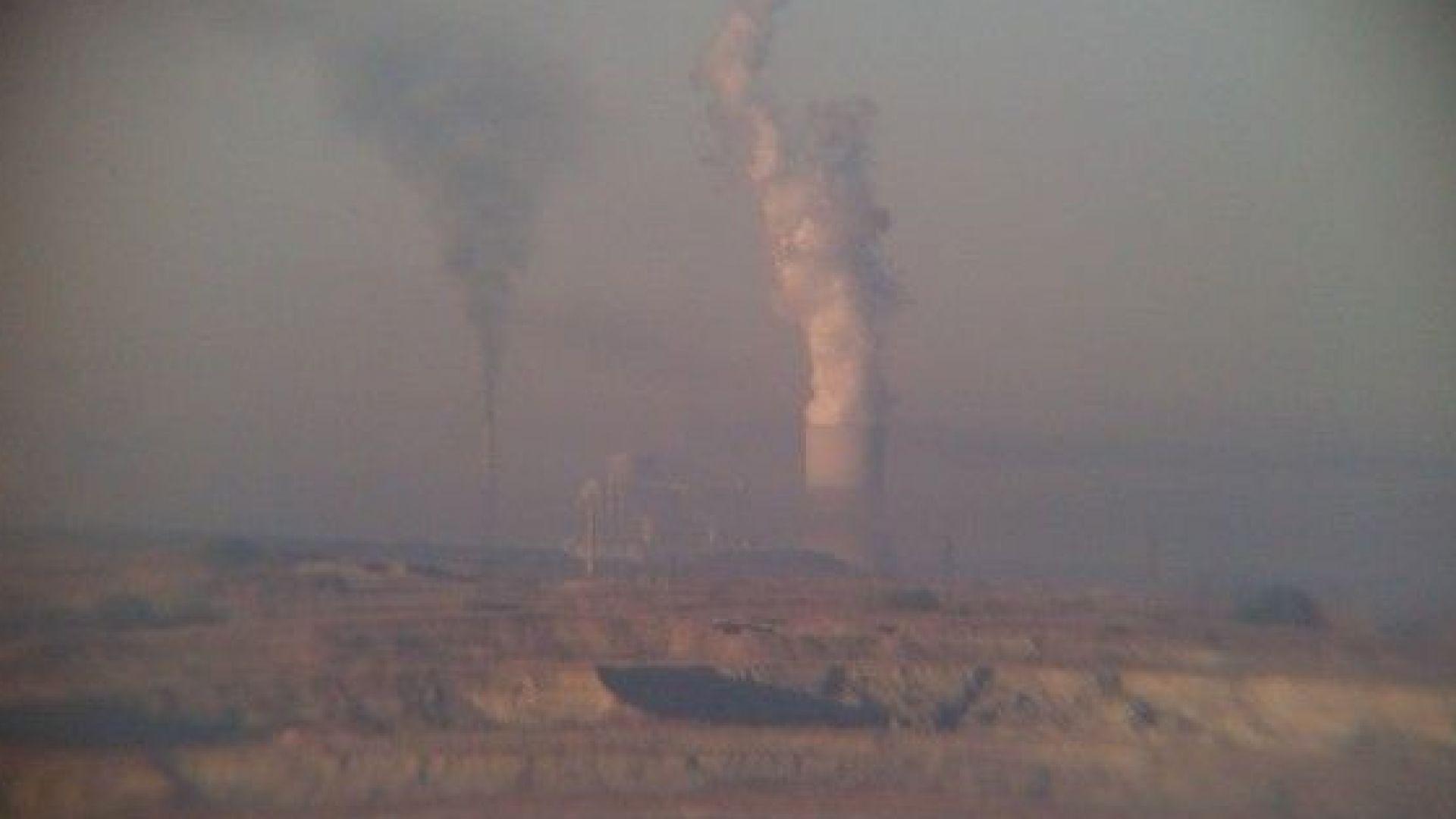 Завишени стойности на серен диоксид във въздуха на Гълъбово