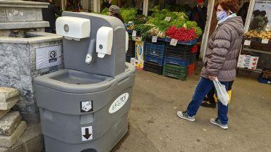 Поставиха мобилни дезинфекционни чешми във Варна