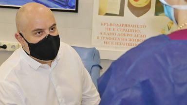 Главният прокурор Иван Гешев дари кръв (снимки)