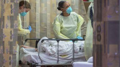 За денонощие в САЩ  от коронавируса са починали над 1200 души, нов световен антирекорд