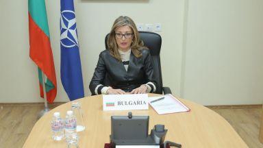 Екатерина Захариева: Нашите граждани очакват НАТО да се включи в борбата с пандемията