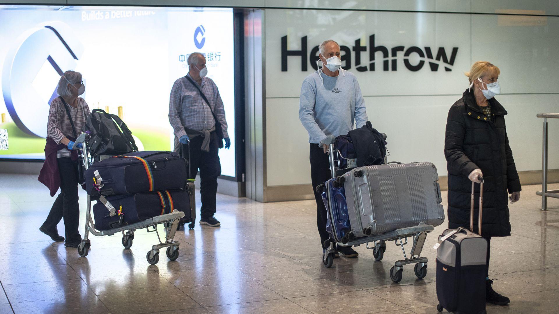 Англия иска отрицателен тест за коронавирус от пристигащите