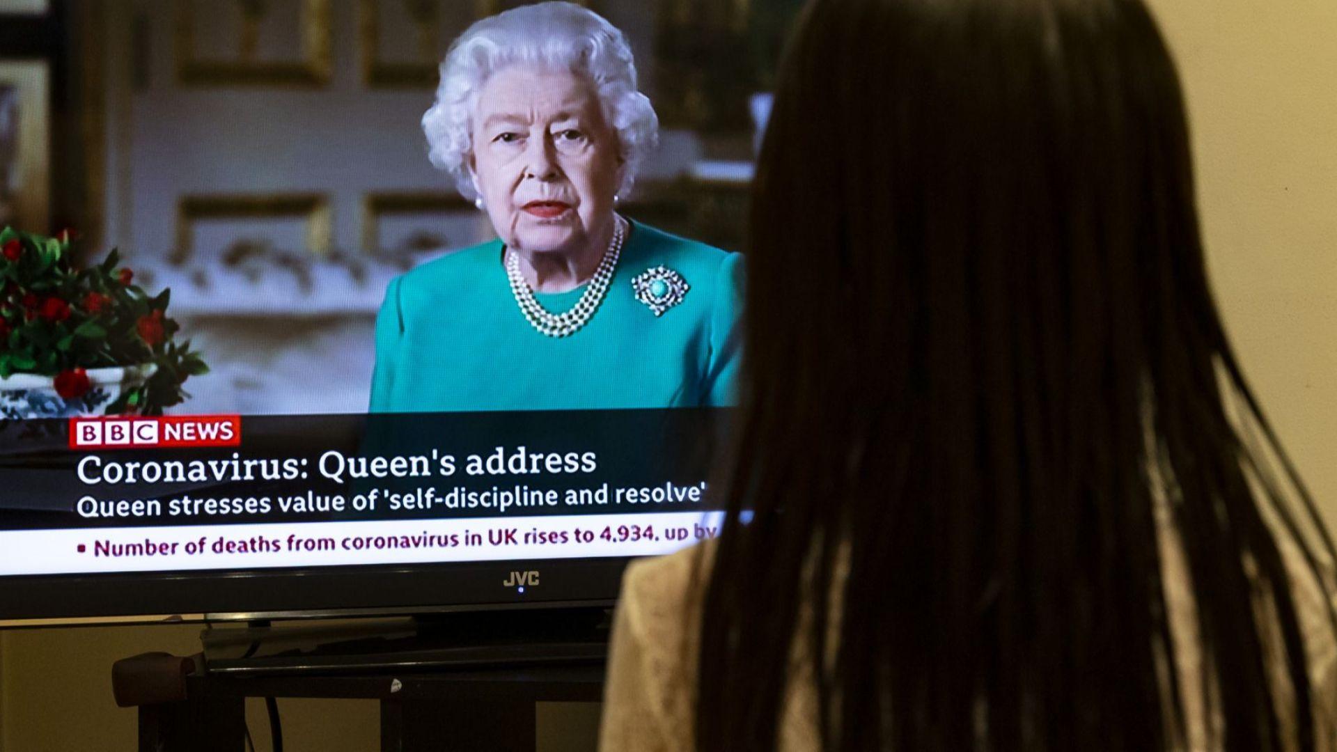 Обръщението на британската кралица Елизабет Втора към нейните поданици късно