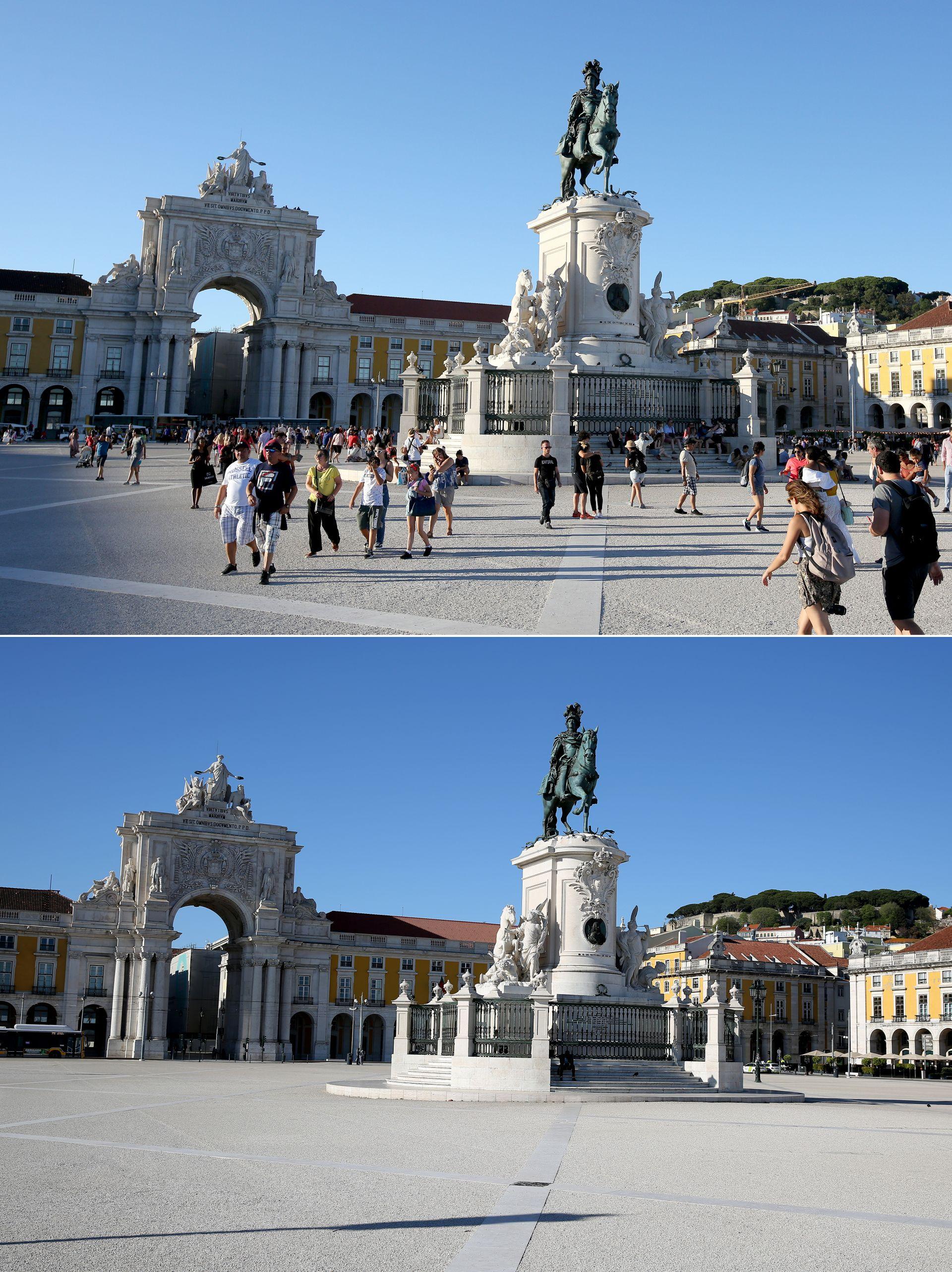 Лисабон преди година и сега
