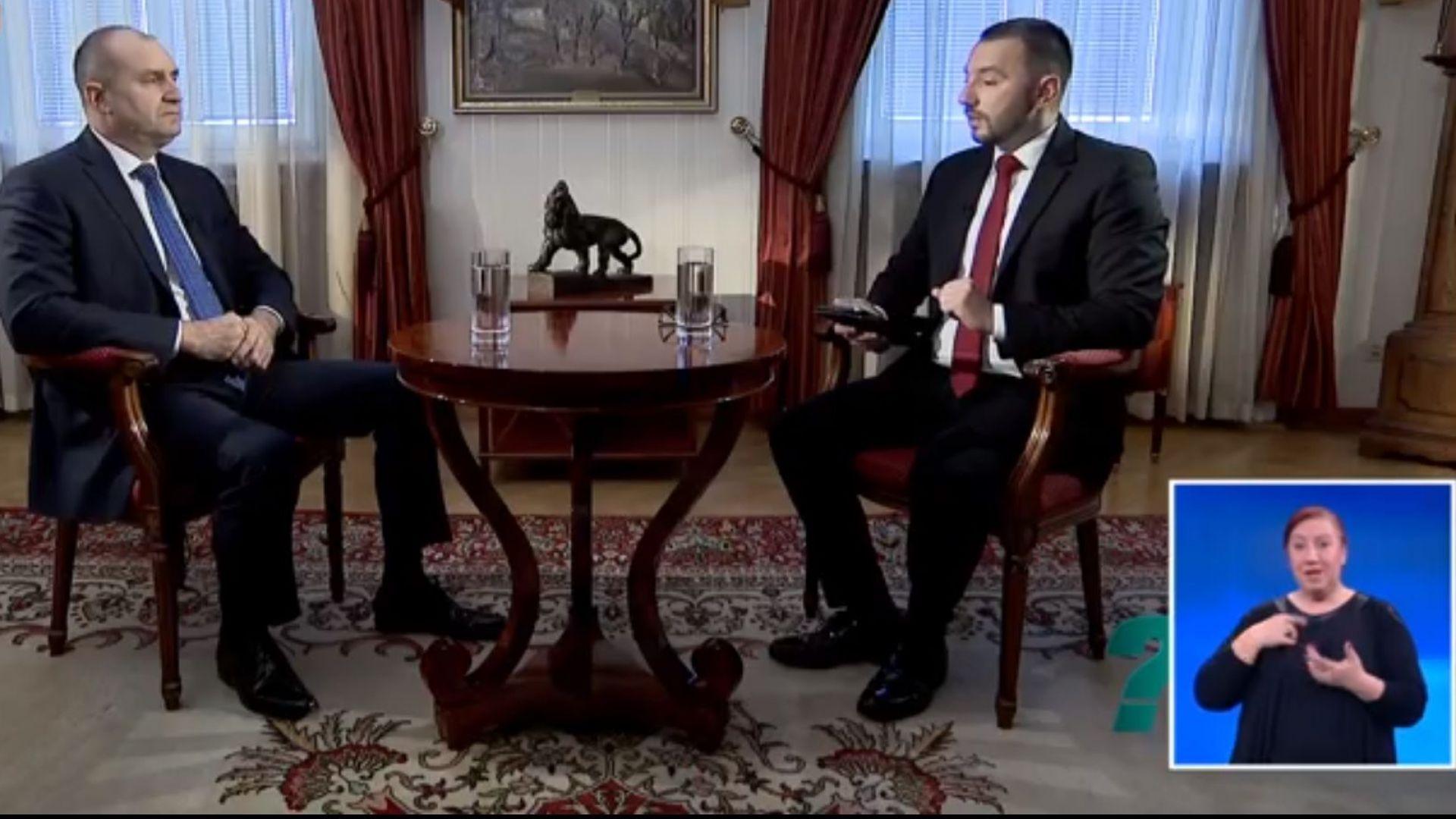 Президентът Румен Радев за първи път от дълго време насам