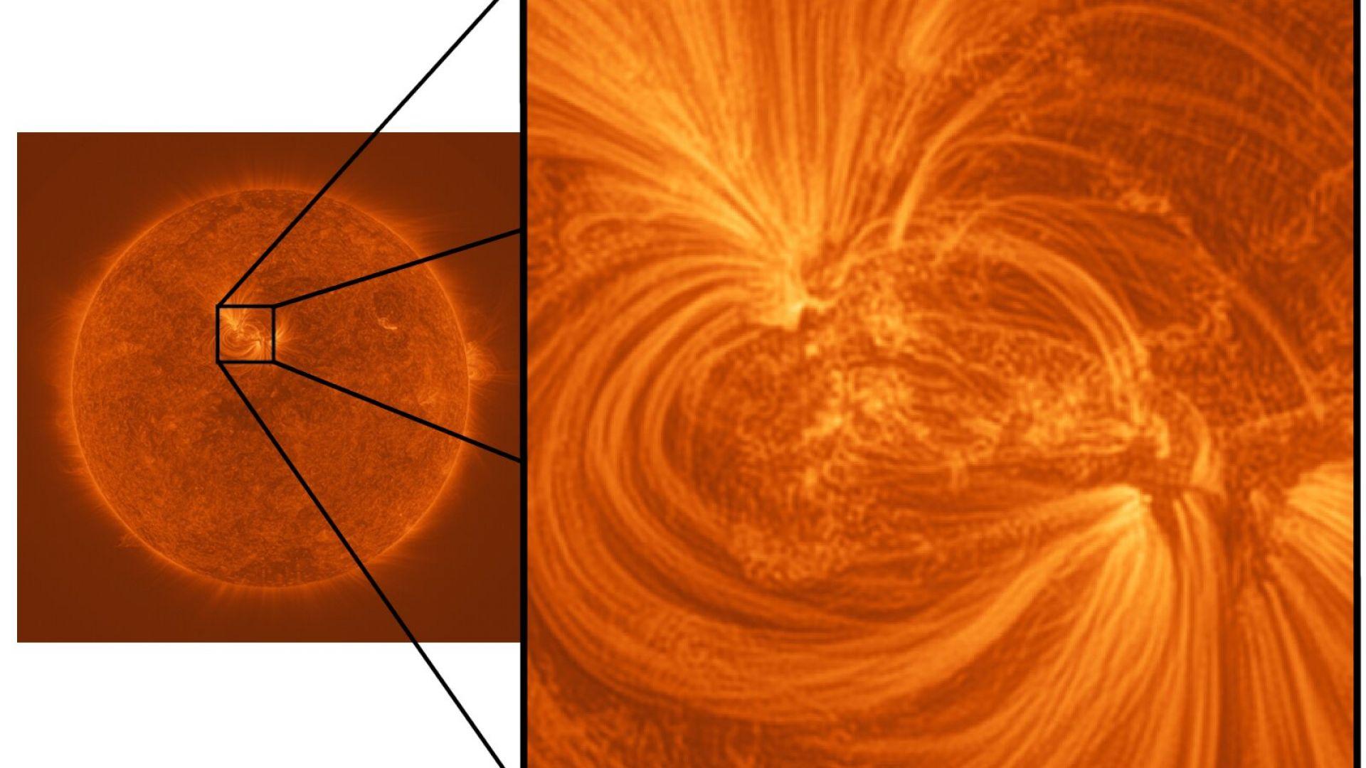 Учени направиха уникална снимка на Слънцето