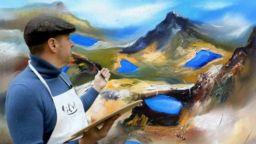 В Страстната седмица, художникът Павел Митков рисува Седемте Рилски Езера - духовния символ на България
