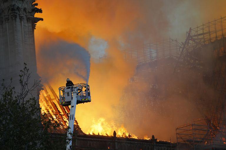 Пожарът в катедралата на 15 април м. г.