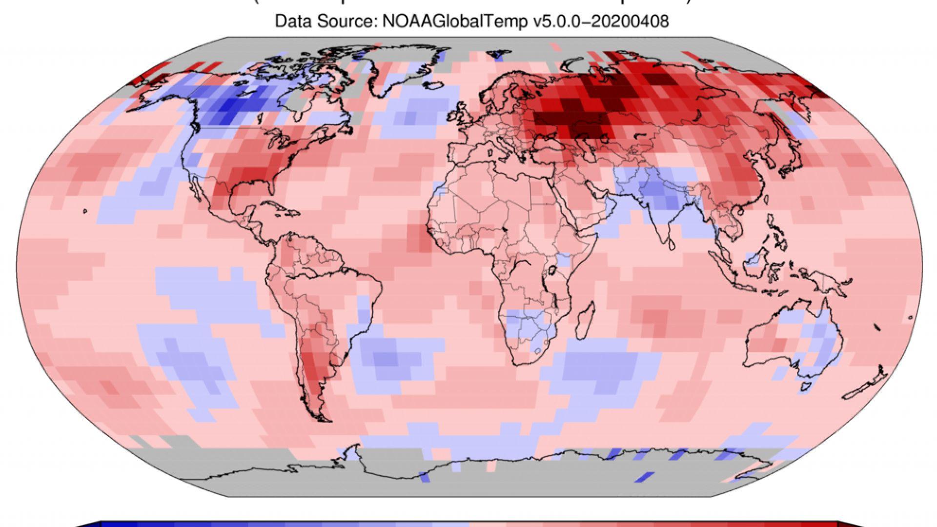 Изминалият март - втори най-топъл в историята на наблюденията