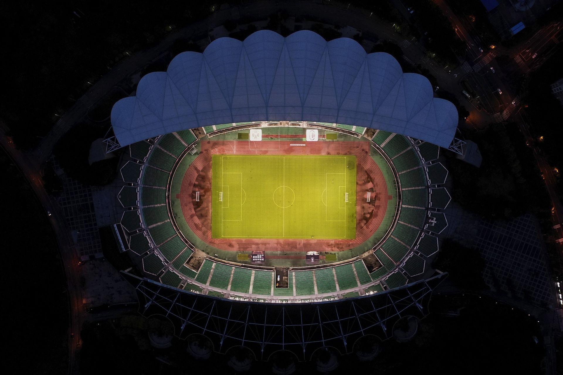 Стадионът на Гуанджоу Евъргранде днес