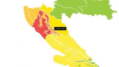 Второ денонощие червен код за силен вятър в Хърватско