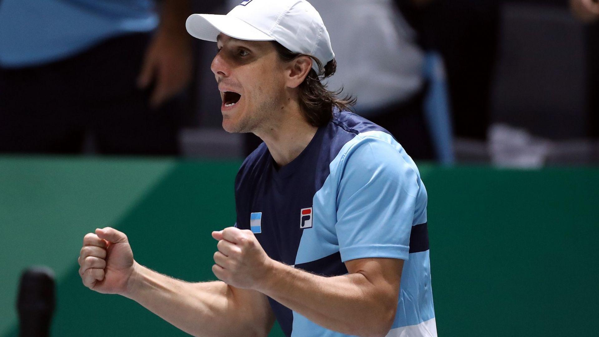 Капитанът на Аржентина в тениса наруши карантината, плашат го със затвор