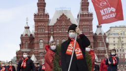 Руски комунисти почетоха Ленин въпреки карантината (снимки)