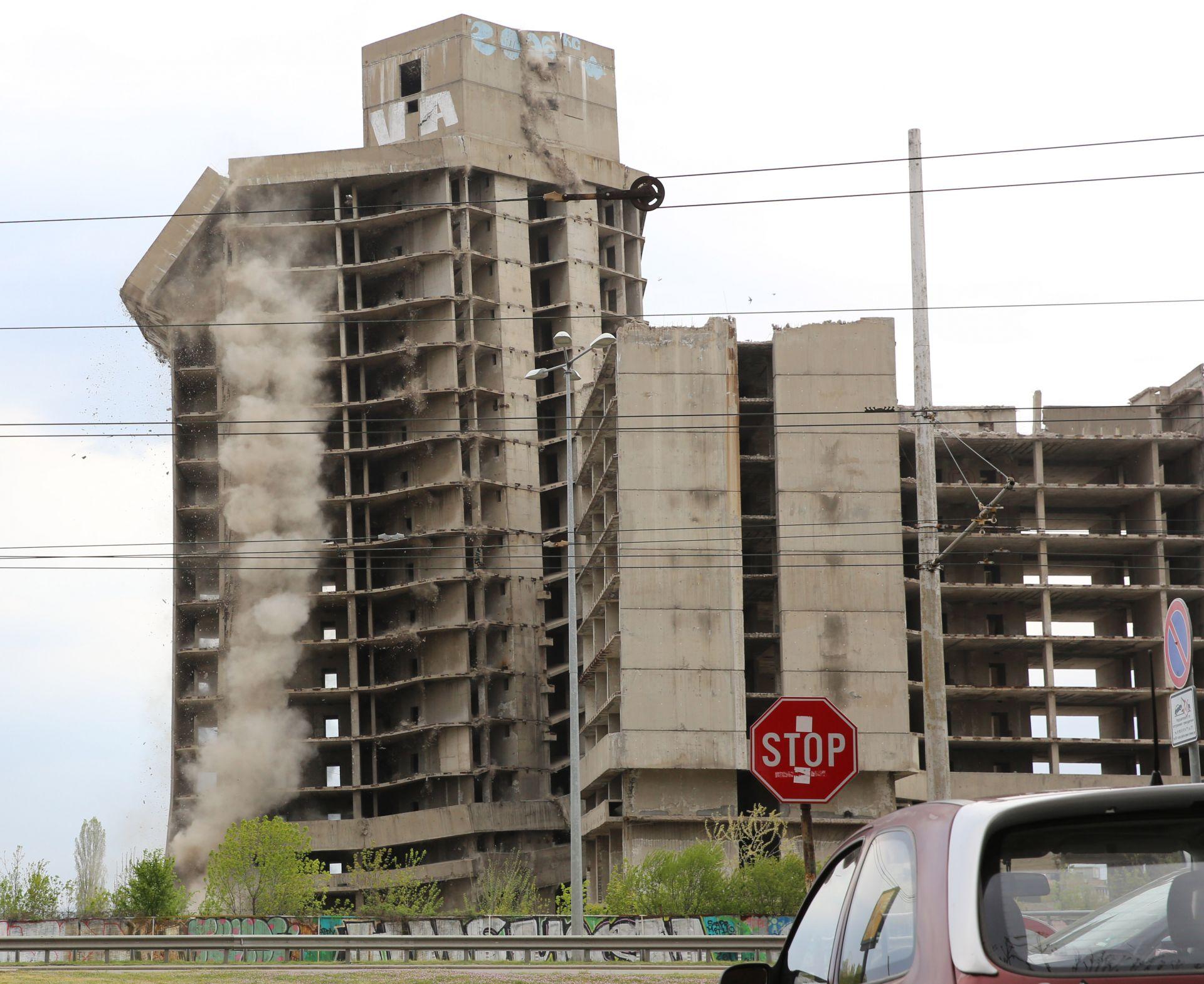 Сградата бе разрушена поради нефункционалните й характеристики и конструктивни проблеми.