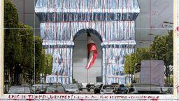 Триумфалната арка ще бъде опакована по проекта на Кристо през юли