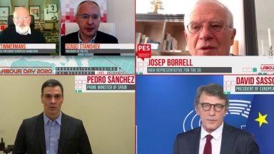 Станишев, Тимерманс и Санчес призоваха за солидарност в ЕС при кризата с библейски размери