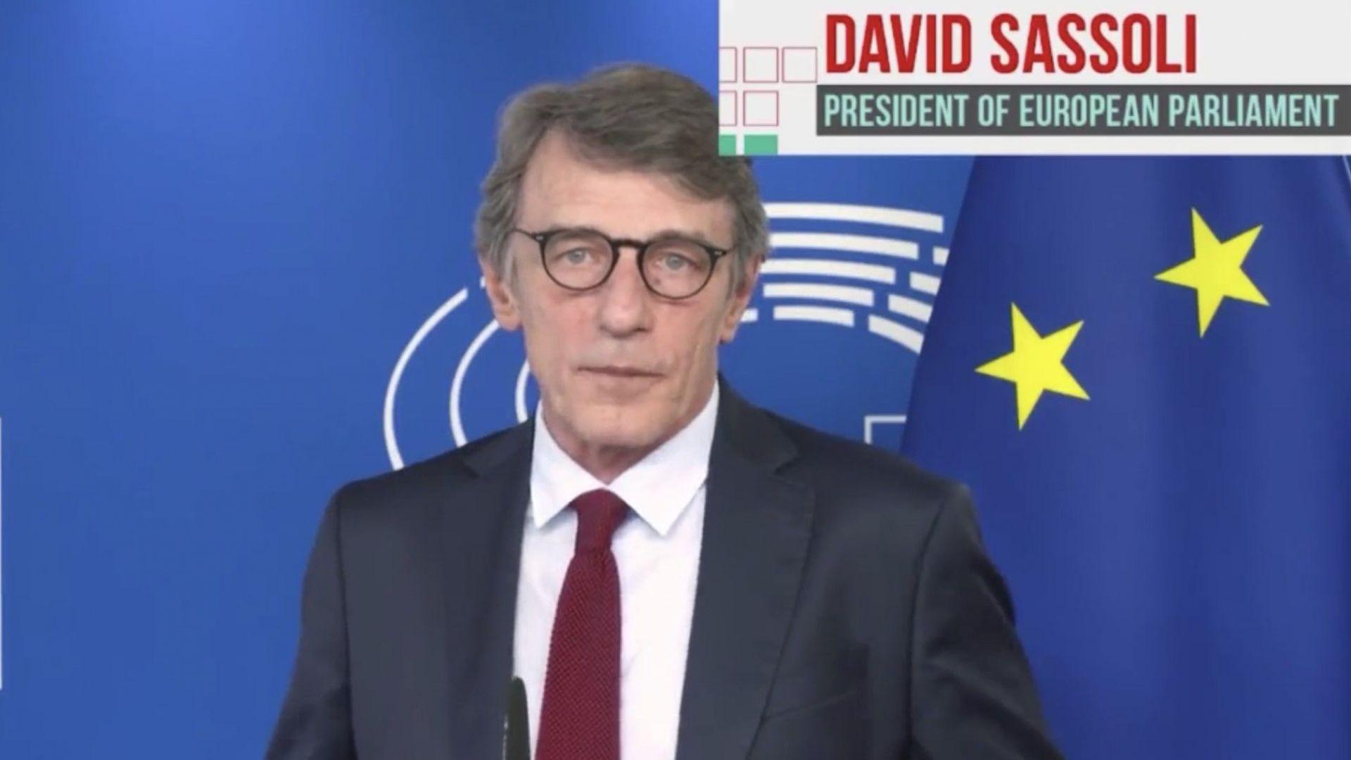 Председателят на ЕП Давид Сасоли