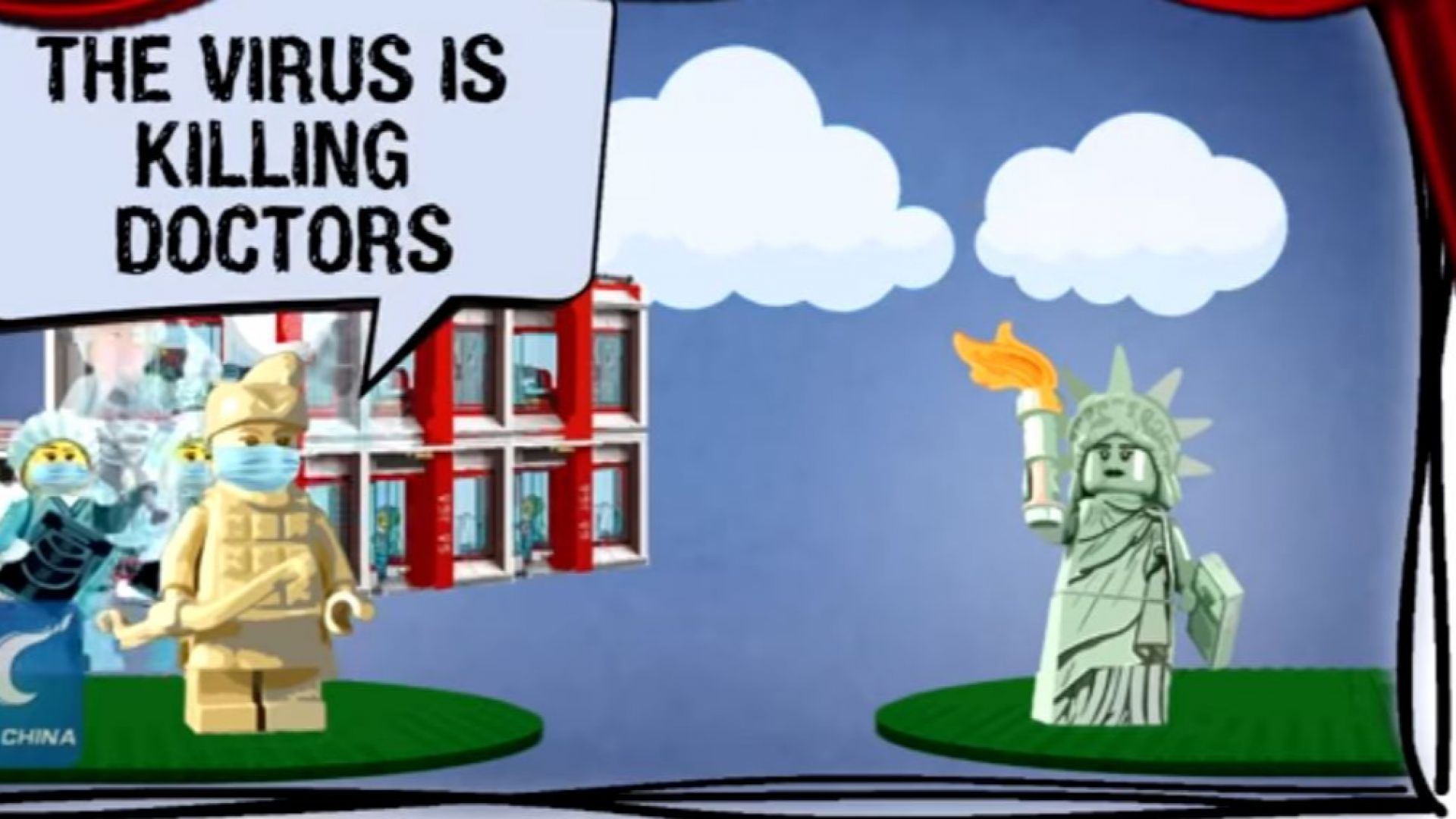 Китай се надсмива над САЩ в анимация с лего фигурки (видео)