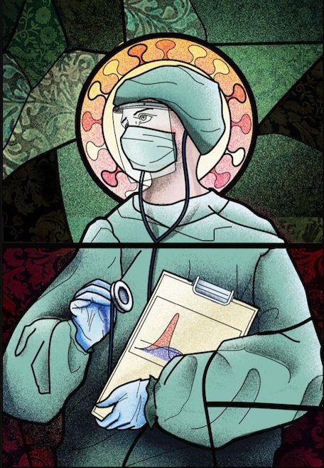 Само преди дни билбордовете с лекари, изобразени като светци, бяха свалени