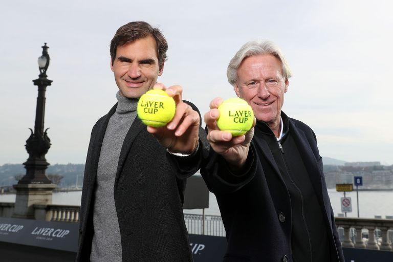 Борг и Федерер - лица на Лейвър Къп. Шведът е капитан на Отбор Европа в надпреварата, а Роджър играе всяка година в състава
