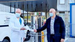 """Българската компания производител дари на """"Пирогов""""  UV-C апарат за дезинфекция"""