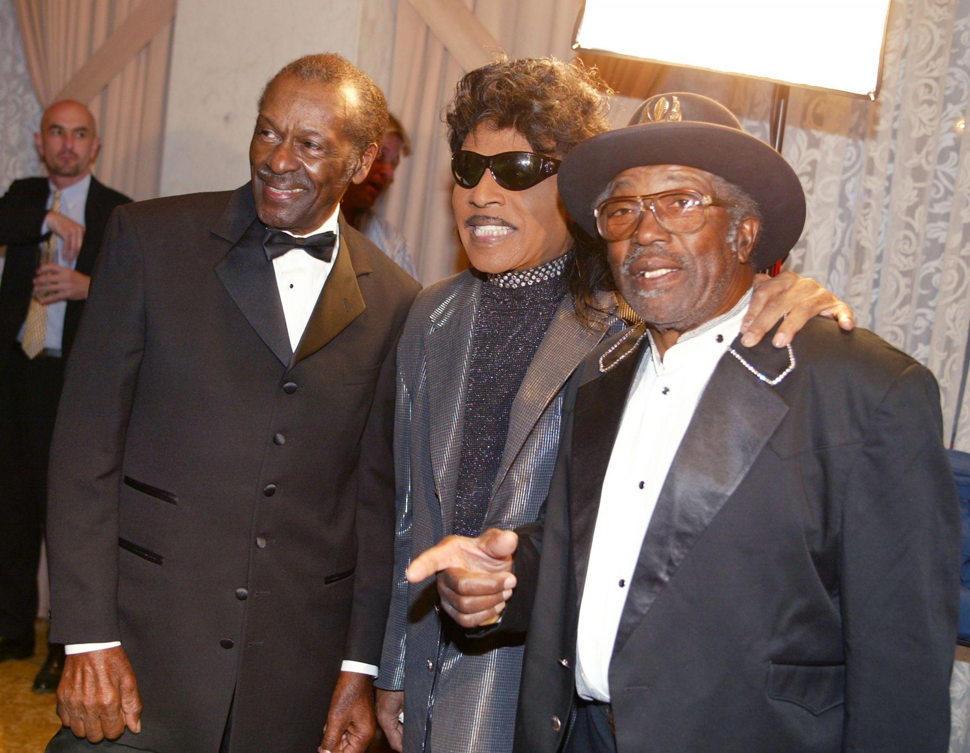 Едни от другите пионери на рокендрола - Чък Бери, Литъл Ричард и Бо Дидли