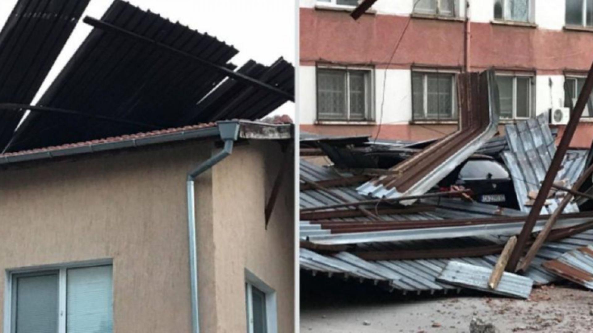 Във Враца започна разчистването след ураганния вятър, който тази нощ