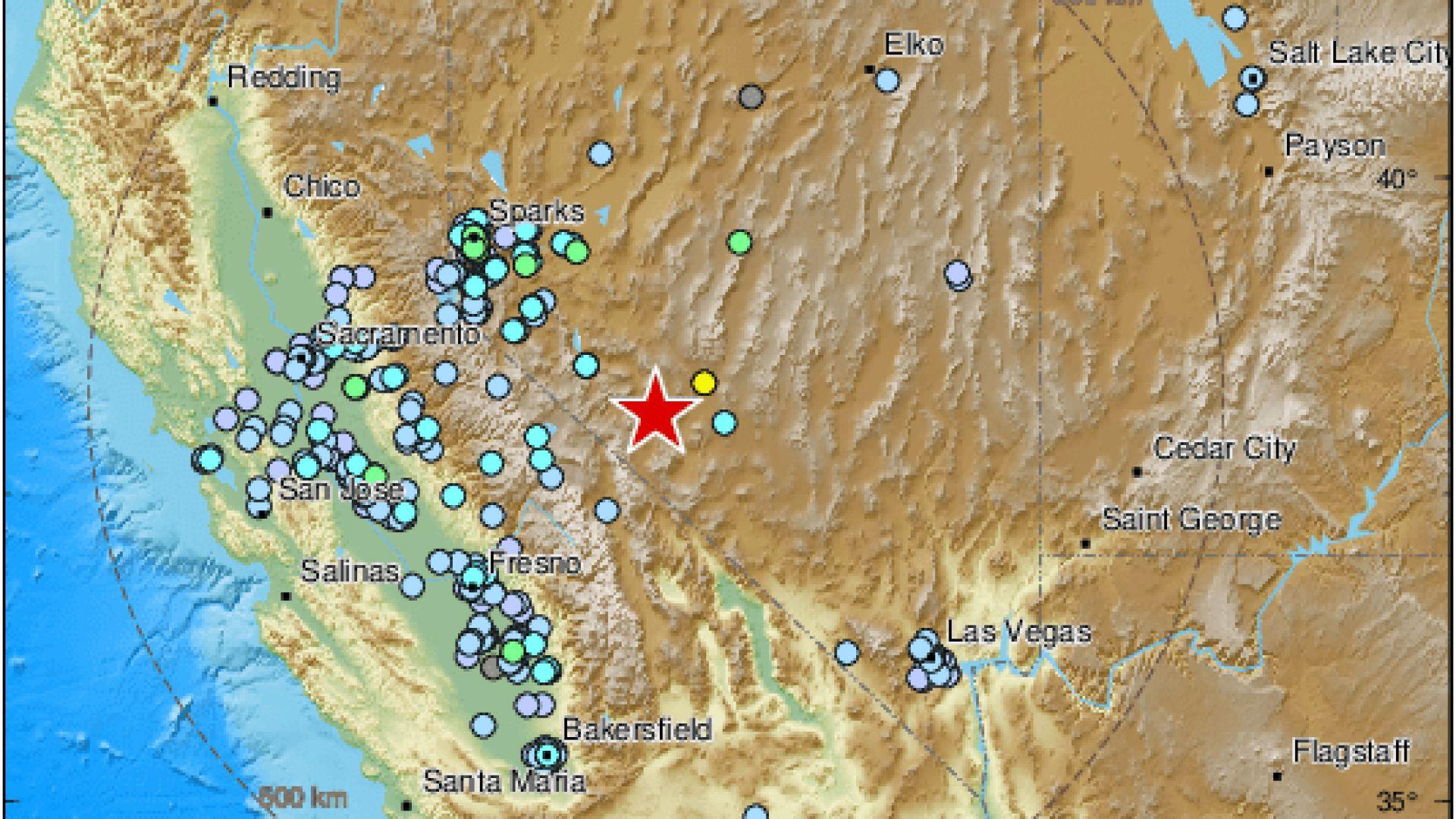 Земетресение от 6,4 по Рихтер разтърси щата Невада (видео)