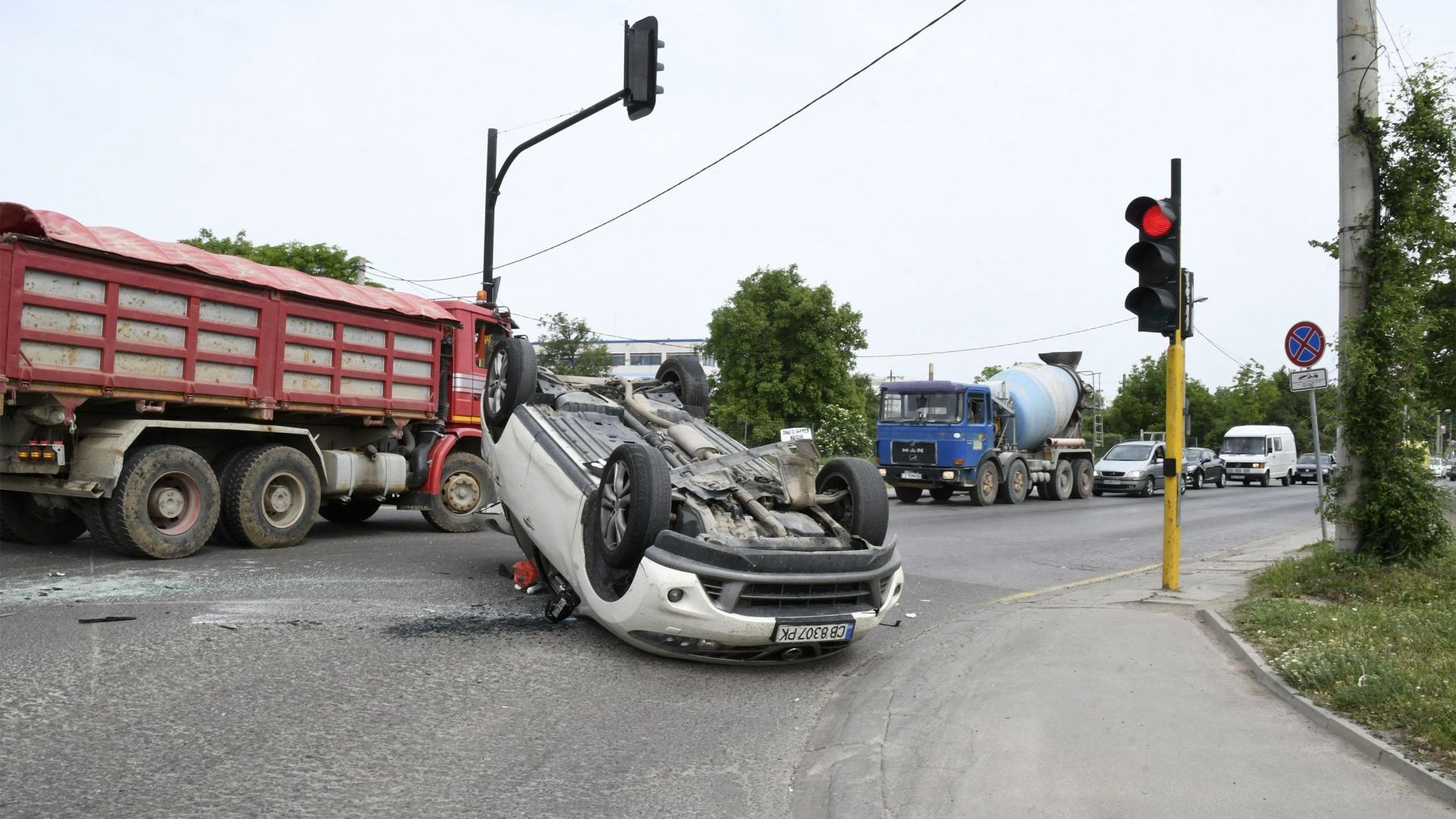 "Тежка катастрофа на ""Цариградско шосе"""