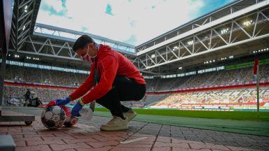 С маски, тишина и 8 контузии - така се завърна немският футбол (галерия)