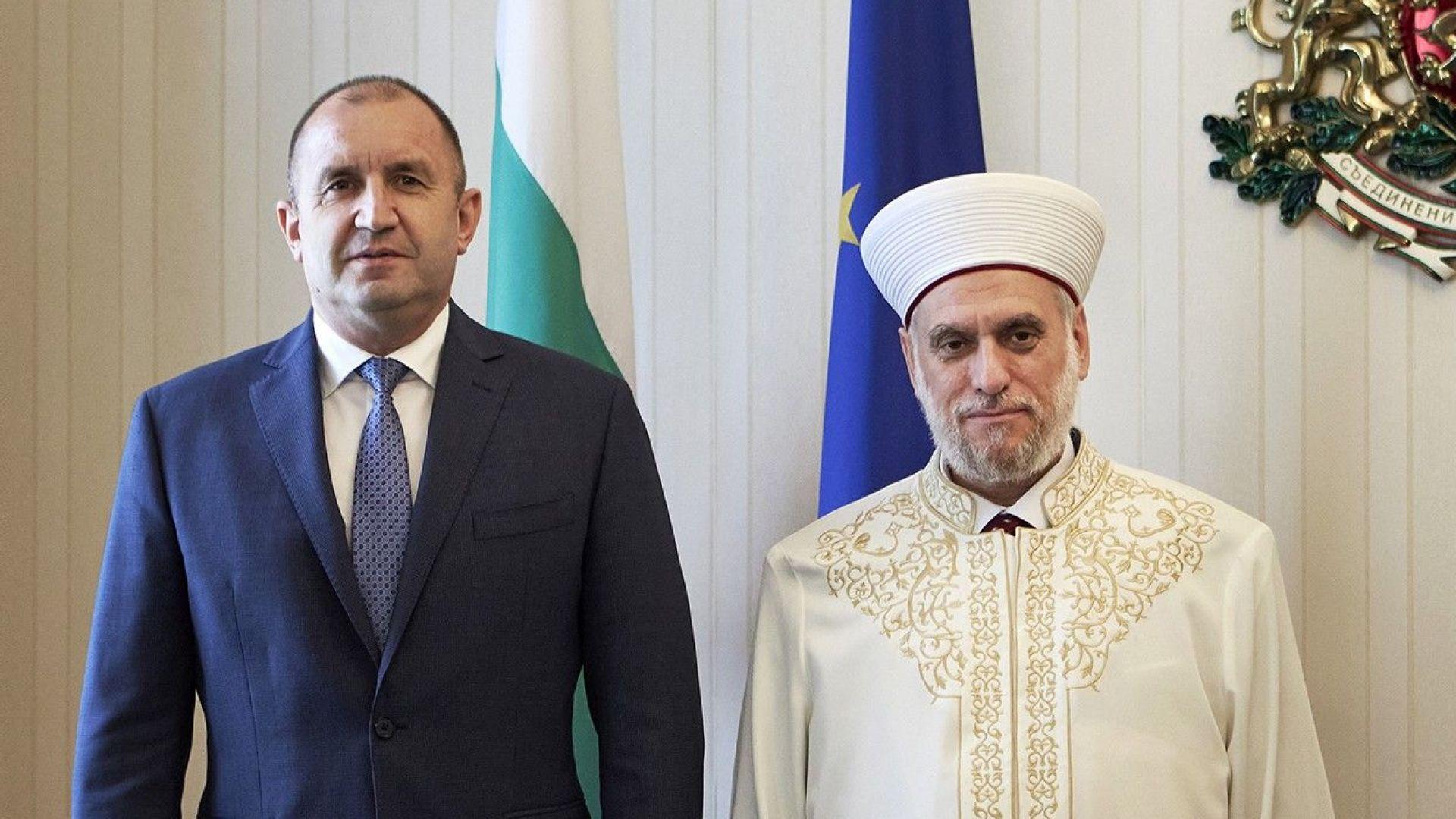 Президентът посрещна мюфтията: И религията, и политиката трябва да са грижа за хората