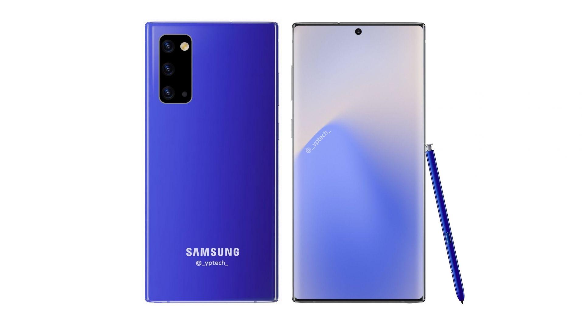 Изтекоха първите рендери на Samsung Galaxy Note 20