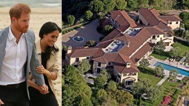 Ето го имението, което Хари и Меган обитават в Лос Анджелис