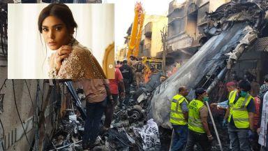 Пакистанският супермодел Зара е била в разбилия се самолет, камера показва как той пада (видео)